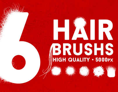 6 Photoshop Hair Strand Brushes