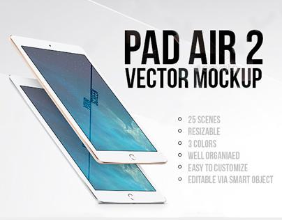 iPad Air 2 Vector MockUp