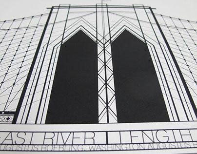 TRIBUTE TO BROOKLYN BRIDGE Poster