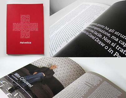 Helvetica book Tira fuori il carattere