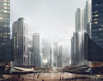 Office Cathedral - Matte Painting