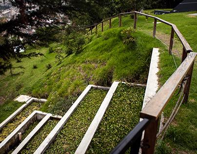 Casa ecológica. Museo del agua Yaku de Quito, Ecuador