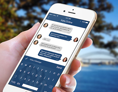 Messenger - iOS8 Keyboard
