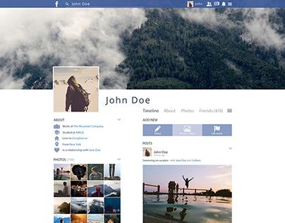 Facebook profiel redesign