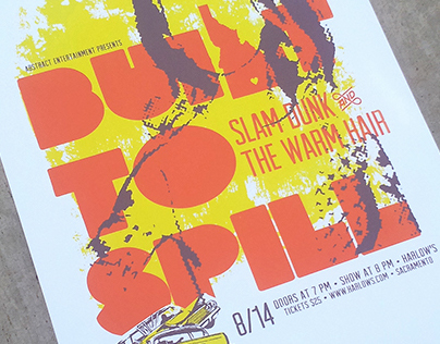 Built To Spill Gig Poster