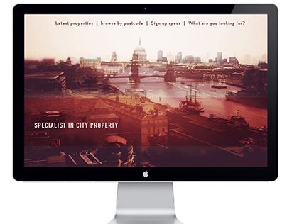 London City website concepts