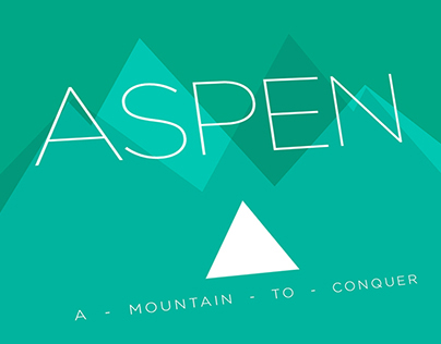 Aspen - A moutain to conquer.