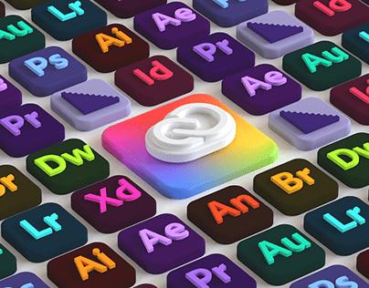 Adobe Creative Cloud 3D Interface