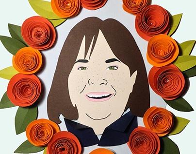 Ina Garten Paper Portrait