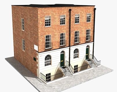 3d model of blocked London building