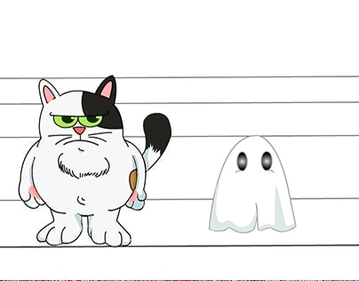 Fatty Cat & Ghost's story - Visual Character Design