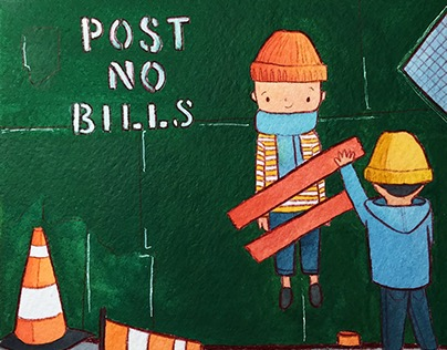 NYC Illustrations: Post No Bills
