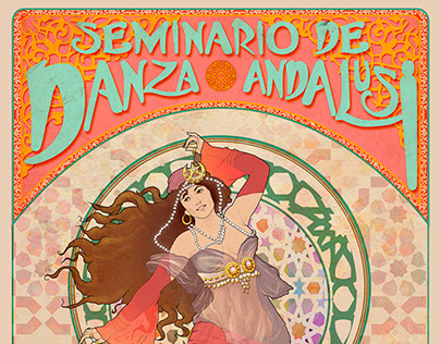 Cartel destinado a Seminario de Danza Andalusí