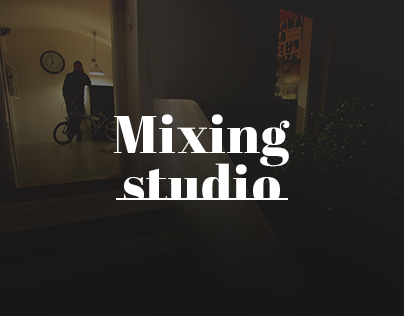 Mixing studio website