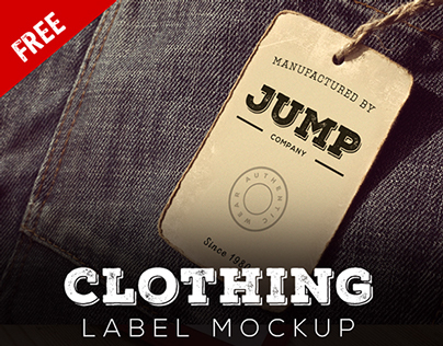 Free Clothing Label Mockup