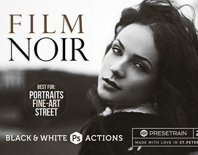 Film Noir B&W Photoshop Actions