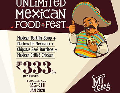Social Media poster design For Micasa Restaurant