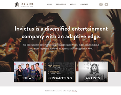 Invictus Entertainment Group Website Design