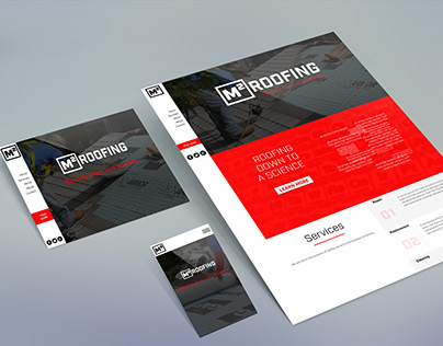 M2 Roofing UI designs