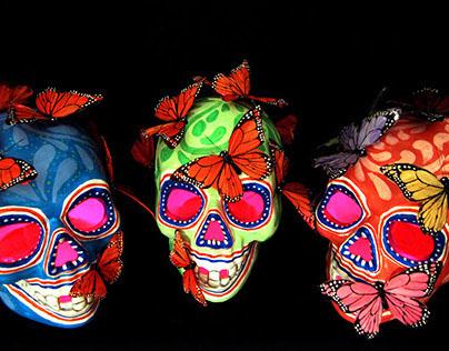 Day of the Death Skulls / Calaveras Dia de Muertos