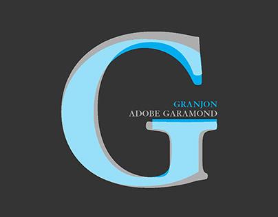 Granjon vs Adobe Garamond
