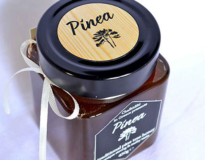 """""""Pinea"""" packaging for pine tree honey (from Chalkidiki)"""