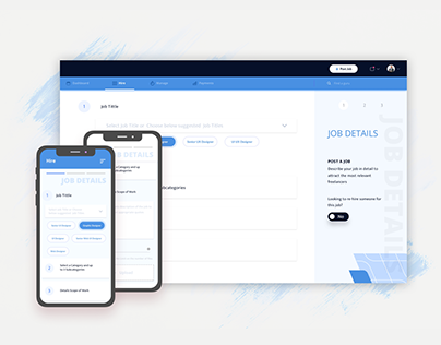 Web app concept for recruiters