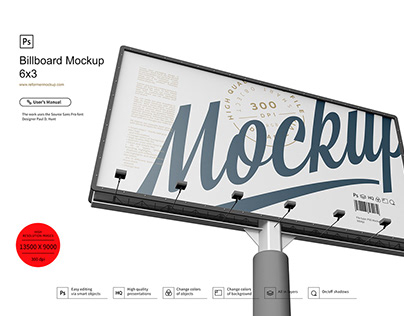 Billboard Mockup 6x3
