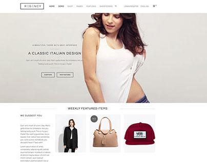 Regency Wordpress eCommerce Theme by @YIW
