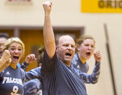 Perry Meridian Coach Celebrates