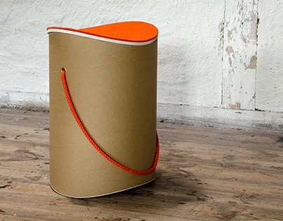 rocking stool // made of cardboard
