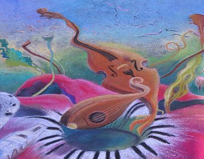 Underwater Music Street Painting