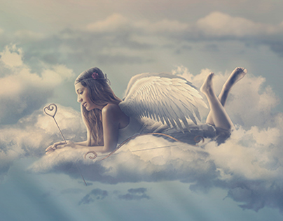 A special Cupid (Photoshop compositing)