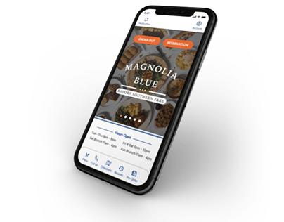 Magnolia Blue Restaurant App
