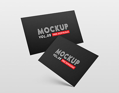 Freebie- Business Card Mockup Vol. 05