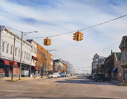 Jackson, Ohio in Watercolor
