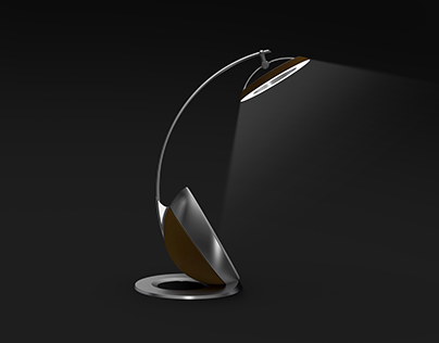 Table lamp inspired by coconut