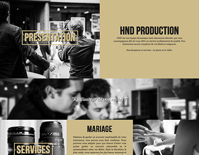 HND production - website