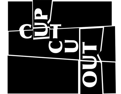 CUT UP/CUT OUT exhibition graphics