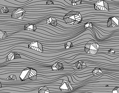 Stones & waves pattern