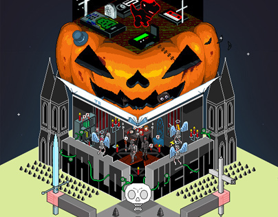 "Halloween ""Monster Tower"""