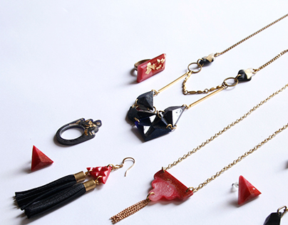 Resin Pépine jewelry collection 2014