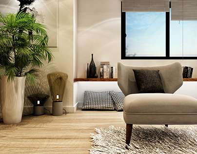 Living room in a residential villa.