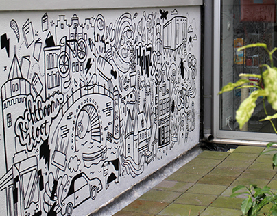 Amsterdam themed mural