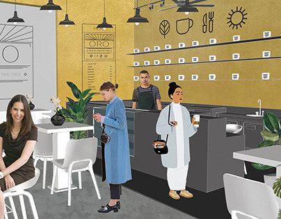 CAFE ORO by RENESA ARCHITECTURE DESIGN INTERIORS STUDIO