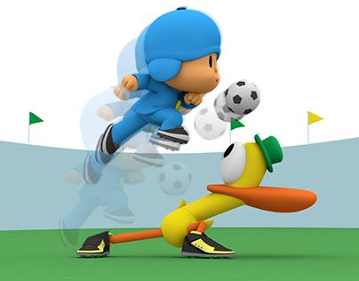 Brasil 2014. Pocoyo Futbol.