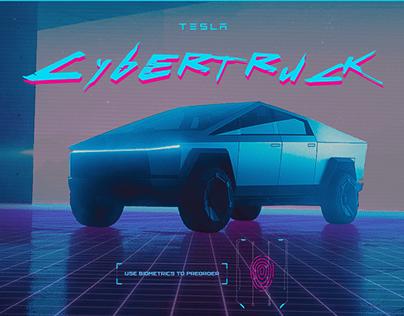 Tesla Cybertruck x Cyberpunk 2077 Website on Steroids