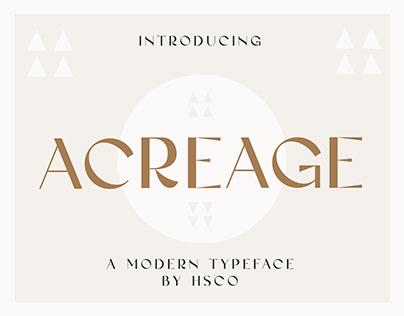 Acreage - A Modern Display Typeface