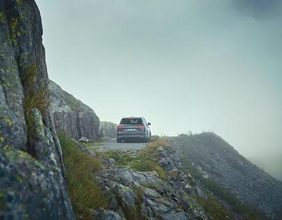 Audi Q7 e-tron quattro, one day in swiss 2017