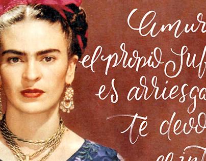 Frida kahlo Caligrafía
